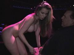 Stripper girl Courtney spread her legs wide open for fucking