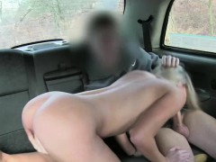 A busty bitches gets cab fucking action