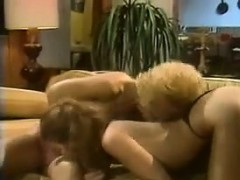 Lesbians Making Love On The Couch Classic