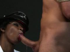Ebony mistress interracial sex