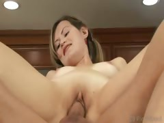 Russian cutie Marina loves nothing more than to choke on
