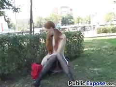 Public pussy show