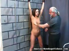 Spanking for a petite babe