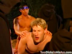 The arts of gay double anal penetration