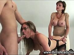 Strapon Lady Sonia fucks stockings babe