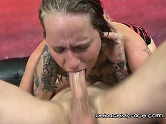 Two guys bang her in all parts while she begs for more