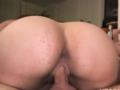 Carmen Ross shakes her perfect round ass while deeply fucked