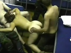 Russian Slave Fucked By The Military